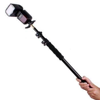 Brazo extensible tipo boom para flash o micrófono