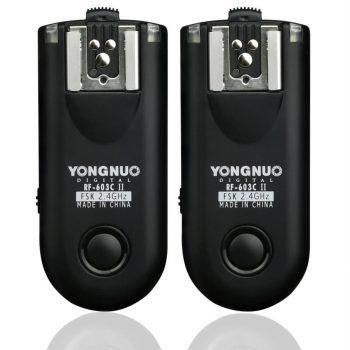 Disparador de flash p/ radio Yongnuo RF603II Canon