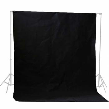 Tela para Fondo de Estudio Negro  3×3 mts
