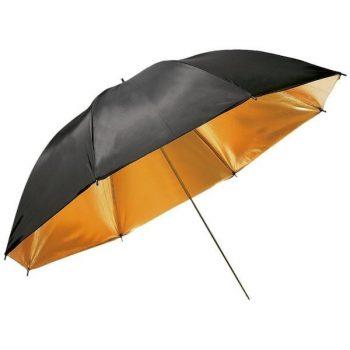 Paraguas Refelctor Dorado 110 cm de Diametro
