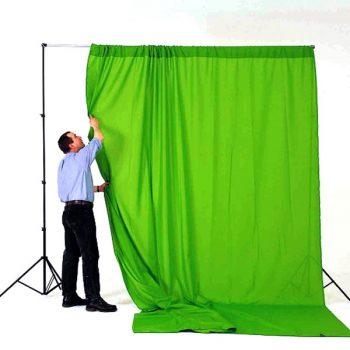 Tela para Fondo de Estudio Verde  3×3 mts