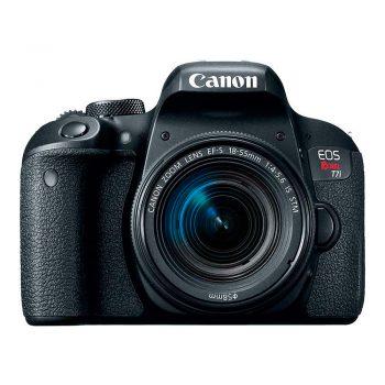 Cámara Canon Rebel T7i Con Lente 18-55mm