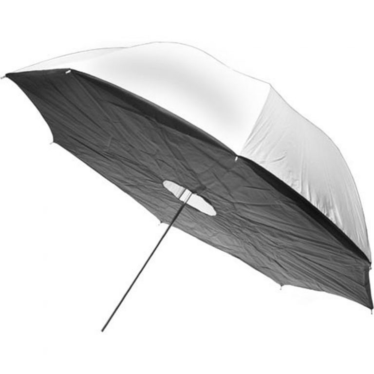 "40/"" Studio Flash Negro y plateado Foto Paraguas//Brolly Alta Calidad Durable"