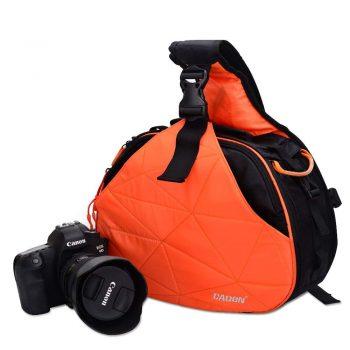 Mochila Bandolera Para Nikon Canon Caden K2 Naranja